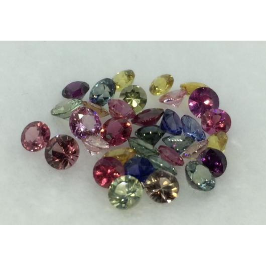 Round Fancy Color Sapphire Lots