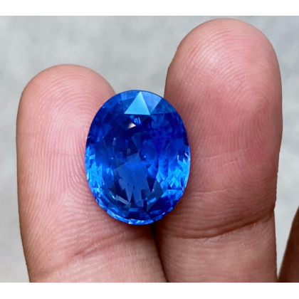 Oval 16 Ct + Unheated Cornflower Blue Ceylon Sapphire